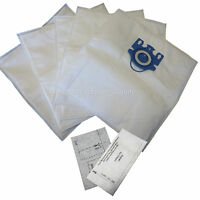 5 Pack Miele Type Gn Deluxe Synthetic Vacuum Bags & 2 Filters S2 S5 S8 C1 C3
