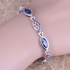 Armband  Silber plattiert Bunt Stein Zirkonia Schmuck Länge 17-21 cm Neu