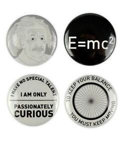 Albert Einstein Badges Buttons Quotes Science General Theory Of