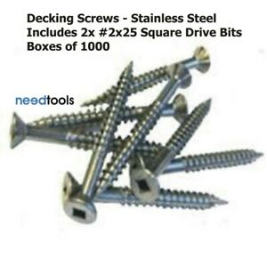 SCREW-10Gx65mm-Decking-Screws-Type-17-Square-Drive-Stainless-Steel-Box-of-1000