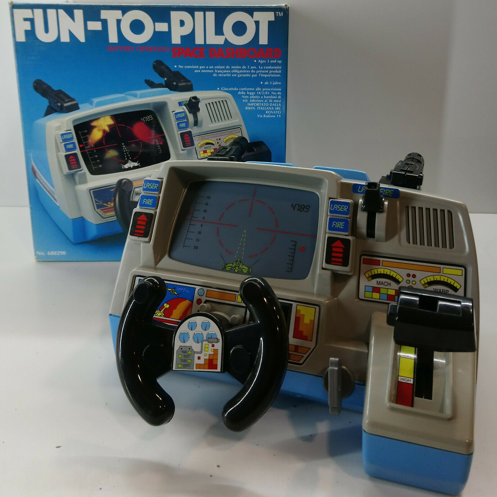 VTG 1989 PLAYMATES FUN-TO-PILOT SPACE DASHBOARD ELECTRONIC TESTED WORKING NEW