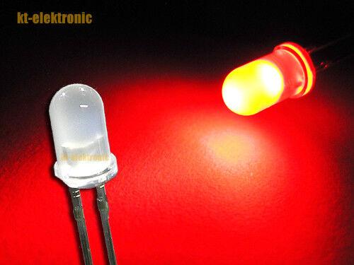 25 Stück LED 5mm rot  matt//diffus superhell