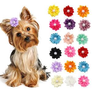 100PCS-Cat-Pet-Small-Dog-Hair-Bows-Puppy-Bowknots-Grooming-Accessory-Bulk-Sell