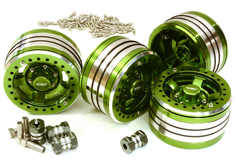 C27034verde 2.2x1.5-in. High Mass Wheel(4)w 14mm Off Hubs for 1 10 Crawler