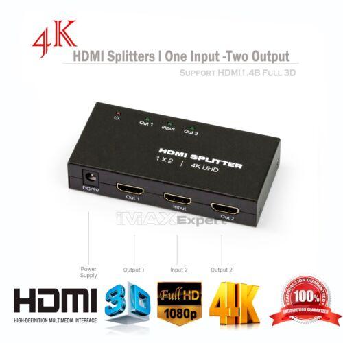 Full HD 4KX2K 2.0 HDMI Splitter 1X4 1X2 4 Port Hub Repeater Amplifier 3D 1080P