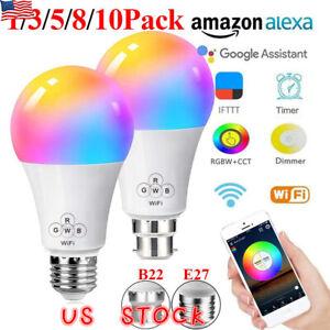 US-Wifi-Smart-LED-Light-Bulb-Amazon-Alexa-Google-Home-App-Control-E27-B22-Blubs