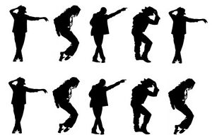 image is loading 10 x 3 034 michael jackson silhouettes edible