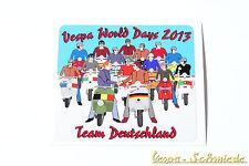 """Dekor Aufkleber """"Vespa World Days 2013"""" - Team Deutschland Germany VCD Belgien"""