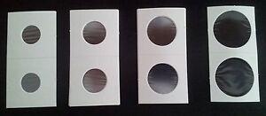 50 CARTONES PARA MONEDAS DIAMETRO 2, 2´5, 2'7 y4cm, ELIGE UNO O VARIOS DIAMETROS
