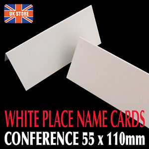 25 x Prestige Large White Blank Place Name Cards 300gsm Hotel Events