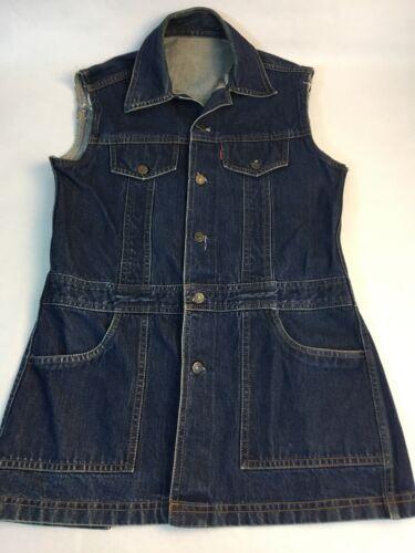Levi's Big E Denim Jumper Women's Jean Dress Dark… - image 1