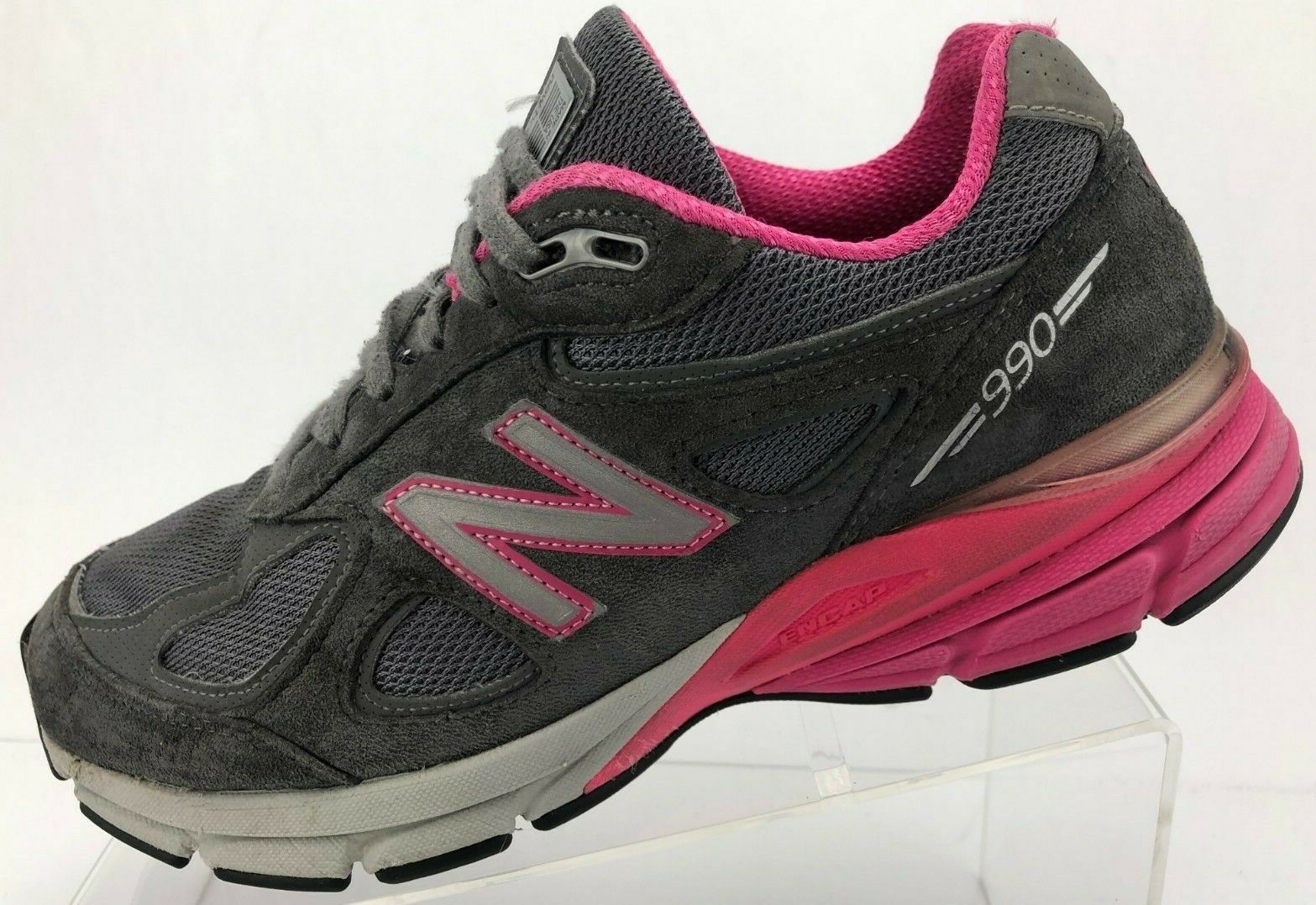 New Balance 990v4 Running shoes Grey Training Athletic Sneakers USA Womens 8 D