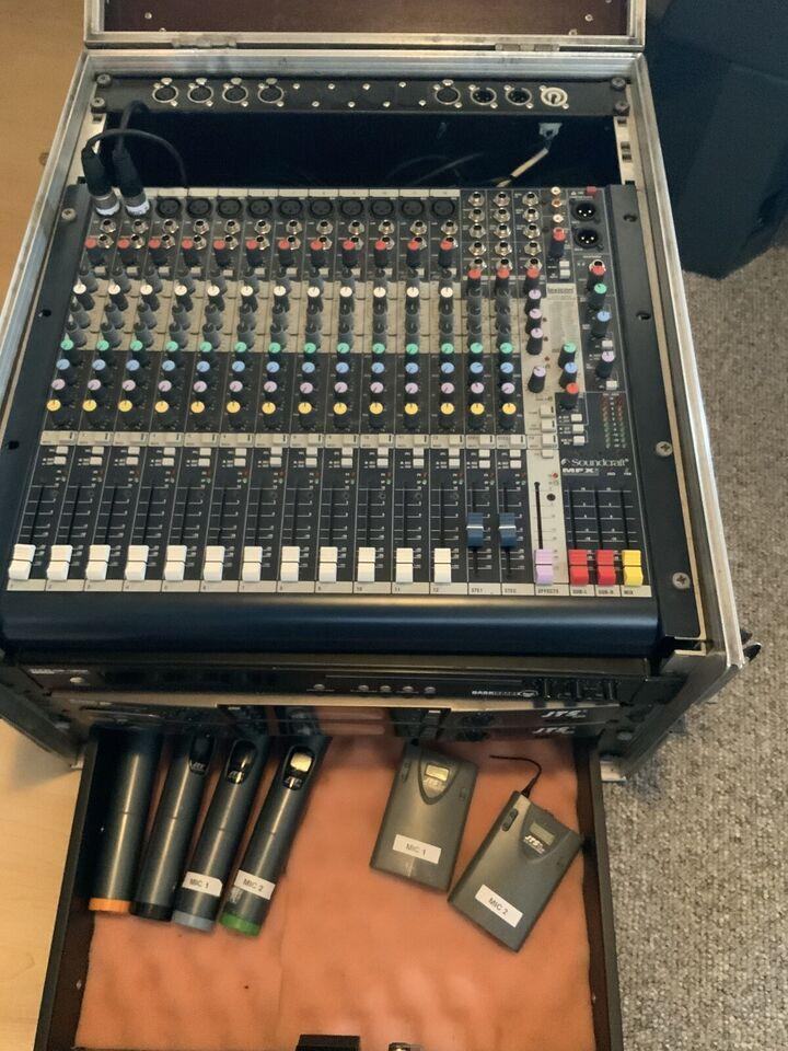 SAMLET: 3 stk mixere og højttalere, Peavey og Soundcraft