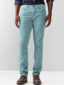 GAP Men's 1969 Cord Corduroy Pants Slim Fit Leg Trousers ...