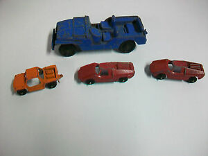 Lot Vintage Tootsietoy Metal Cars Blue Jeep Baja Run About