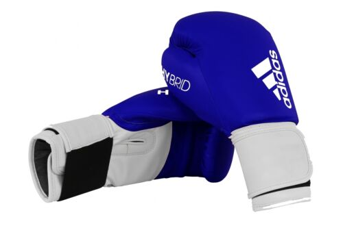 Adidas Blue Boxing Gloves Hybrid 100 Sparring Mens Adults 8 10 12 14 16 oz
