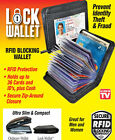 Lock Wallet as seen on TV amazing slim rfid black leather wallet fraud protegt