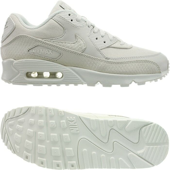 e471726cffe3e Nike Air Max 90 Premium men's low-top sneakers white leather casual shoes  NEW
