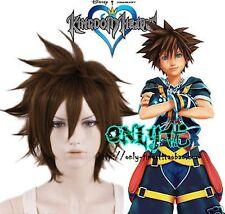 Kingdom Hearts Sora sola Marrone a cubilotto ORIGINALE anti-alice Cosplay Parrucca Anime Parrucca