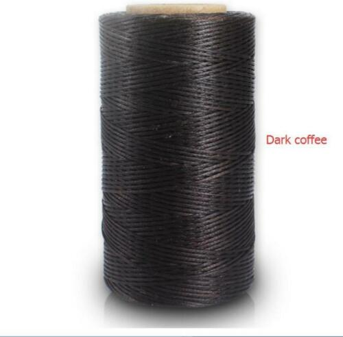 260m Leather Sewing Waxed Thread 1MM For Chisel Awl Upholstery Shoes Luggage Set