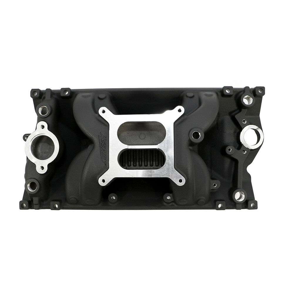 SBC Small Block Chevy Black Vortec Air Gap Aluminum Intake