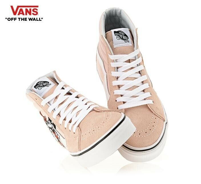 .Vans Disney 90th Anniversary SK8-HI Mickey Mouse Pink Fashion Sneakers,shoes