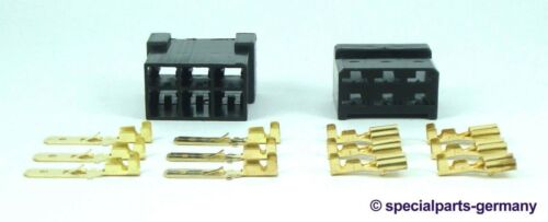 1 x Steckverbinder Set Stecker 6-polig Reparatur Ersatz Oldtimer KFZ Kabelbaum