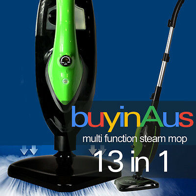 13 in 1 Foldable Steam Mop Handheld Steamer Cleaning Cleaner Floor Carpet 1300W