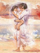 Talantbek Chekirov: Attectionate Embrace Fertig-Bild 60x80 Wandbild Mädchen