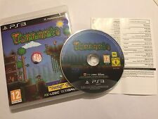 SONY PLAYSTATION 3 PS3 GAME TERRARIA BOXED COMPLETE PAL DISC IN GOOD CONDITION