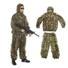 3D Leafy Tactical Ghillie Suit Woodland Camo Camouflage Jungle Hunting B0G5
