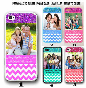 PERSONALIZED-PHOTO-CHEVRON-Rubber-Case-For-iPhone-XS-XR-8-7-6S-SE-Custom-Picture