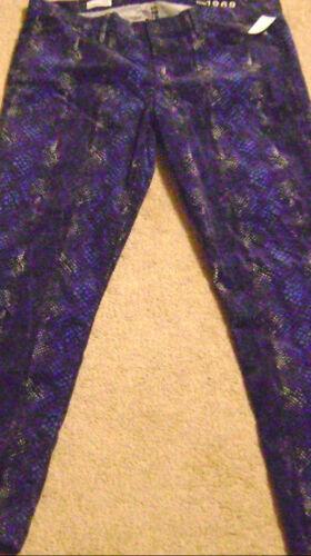 Jeans 118638816020 størrelse Womens Nwt Print Gap 16 33r blue Corduroy Legging Snake 1969 qfFXO