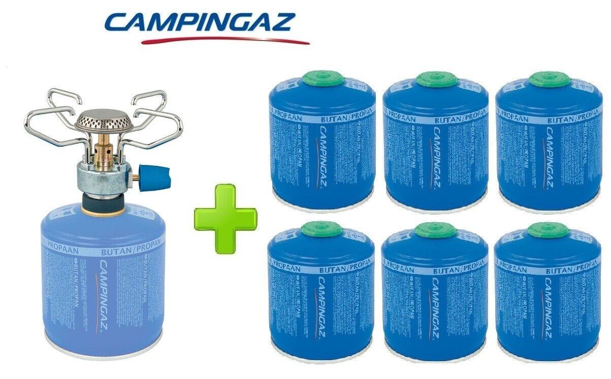 FORNELLO FORNELLINO A GAS bluET MICRO PLUS 1.230 W CAMPINGAZ + 6 PEZZI CV300