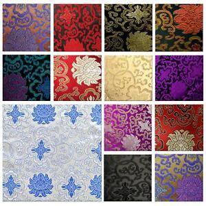 Faux Silk Brocade (Fortune Flower) Jacquard Damask Kimono Fabric Material BL2