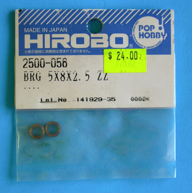 HIROBO®  SPARE PARTS ~ Bearing 8x8x2.5 ZZ ~ 2500-056 ~ NEW IN ORIGINAL PACKAGNG