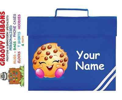 Personalizzata Shopkins Cookie Book Bag La Lettura Della Cartella Della Libreria- Processi Di Tintura Meticolosi