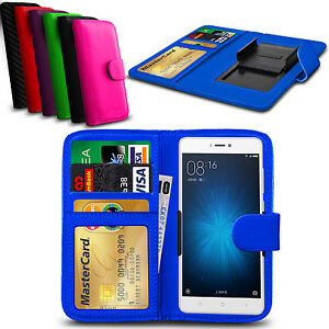 Clip-En-Cuero-PU-Abatible-Billetera-Libro-Estuche-Cubierta-Para-Xiaomi-Mi-4