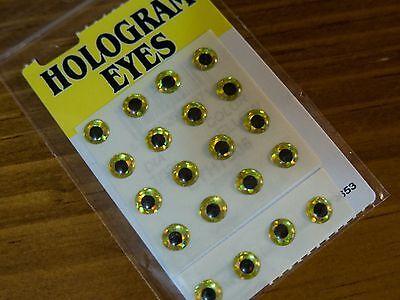 """Agressief Wapsi Hologram Dome Eyes 7/32"""" Yellow / 20 Pkg. Fly Tying Een Verrijkt En Voedingsstof Voor De Lever En De Nieren"""