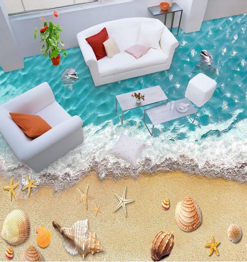 3D Wasser Sandstrand 902 Fototapeten Wandbild Fototapete Bild Tapete Familie