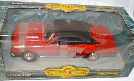 Ertl Amer. músculo Chevelle'67 L-78, escala 1 18, American Muscle Car-Original Bo