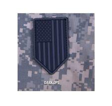 Milspec Monkey MSM PVC Patch US American Flag Vertical Shield - DARK OPS - NEW