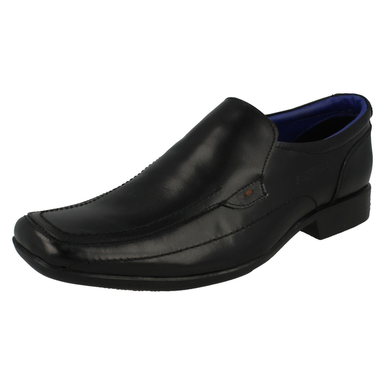 Hombre Lambretta 20287 Zapatos piel cierres negra sin cierres piel b042c8