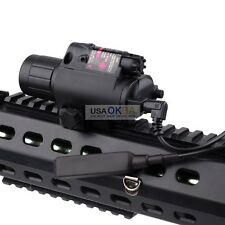 Tactical LED Flashlight Red Laser Sight Combo Scope for Hunting Gun Pistol