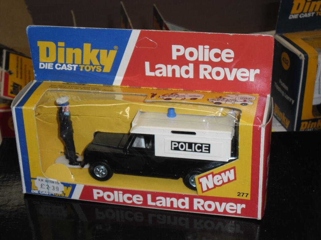 Rara Vintage Dinky Nº 277, la policía Land Rover, 4x4, policía hombre, propiedad de nuevo, menta