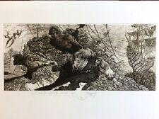 JULIAN JORDANOV ,Etching , Huge Free Style Print ,Ex Libris , Limited Ed. 4/10