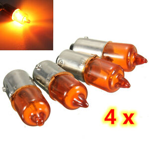 4x motorrad mini blinker birne halogen ba9s gl hlampe gl hbirne orange 12v 21w ebay. Black Bedroom Furniture Sets. Home Design Ideas