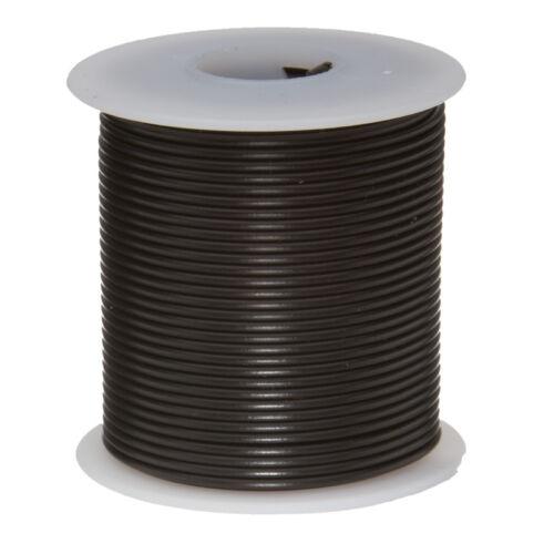 """0.0508/"""" UL1015 600 V environ 7.62 m 16 AWG Gauge Stranded Hook Up Wire Noir 25 ft"""