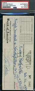 LOU-COSTELLO-PSA-DNA-Coa-Hand-Signed-1948-Check-Autograph