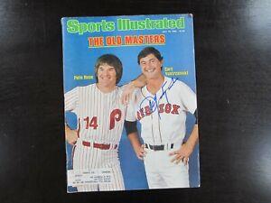 Carl-Yastrzemski-Autograph-Signed-7-19-82-Sports-Illustrated-Magazine-Red-Sox